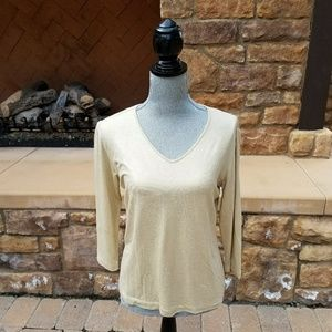 Chico's top--light gold with little gold flecks